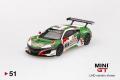 【お1人様5個まで】MINI GT 1/64 ホンダ NSX GT3 スパ24時間 2018 #30 Hondaレーシング