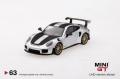 【お1人様5個まで】MINI GT 1/64 ポルシェ 991ターボ GT2RS シルバーメタリック(右ハンドル)