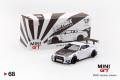 【お1人様5個まで】MINI GT 1/64 LB★WORKS 日産 GT-R R35 タイプ2 リアウイング バージョン3 ホワイト (右ハンドル)