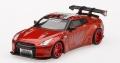 [予約]【お1人様5個まで】MINI GT 1/64 LB★WORKS 日産 GT-R R35 タイプ1 リアウイング バージョン 1+2 キャンディレッド (右ハンドル)