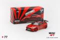 【お1人様5個まで】MINI GT 1/64 LB★WORKS 日産 GT-R R35 タイプ1 リアウイング バージョン 1+2 キャンディレッド (右ハンドル)