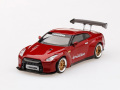 [予約]【お1人様5個まで】MINI GT 1/64 Pandem 日産 GT-R R35 GTウィング ラヴァレッド(左ハンドル)