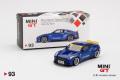 【お1人様5個まで】MINI GT 1/64 Pandem 日産 GT-R R35 ダックテイル ヴェロシティブルー(左ハンドル)