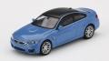 [予約]【お1人様5個まで】MINI GT 1/64 BMW M4 (F82) ヤスマリーナブルーメタリック (右ハンドル)