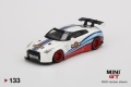 【お1人様5個まで】MINI GT 1/64 LB★WORKS Nissan GT-R R35 タイプ1 リアウイングバージョン 1 マルティニレーシング (右ハンドル)