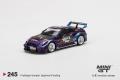 """[予約]【お1人様5個まで】MINI GT 1/64 LB-Silhouette WORKS GT Nissan 35GT-RR バージョン 1 """"Purple Metallic""""(左ハンドル) ※数量限定生産"""