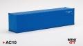 [予約]【お1人様5個まで】MINI GT 1/64 40ftコンテナ ブルー ※再入荷
