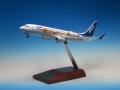 全日空商事 1/200 737-800 JA85AN 東北FLOWER JET 完成品(WiFiレドーム・ギアつき)