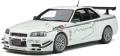 [予約]otto mobile(オットモビル) 1/18 日産 スカイライン R34 GT-R マインズ(ホワイト) 世界限定 2,000個