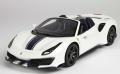[予約]BBR MODELS 1/18 フェラーリ 488 Pista スパイダー メタルホワイト ※ケース付き