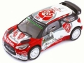 プレミアムXモデル 1/43 シトロエン DS3 2016年 WRC モンテカルロ ラリー #7 K. Meeke/P. Nagle. Rallye
