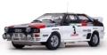 [予約]SunStar(サンスター) 1/18 アウディ クアトロ A1 1983年ラリー・ポルトガル 優勝 #3 H.Mikkola/A.Hertz