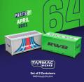 [予約]Tarmac(ターマック) 1/64 Set of 2 Containers RWB Rough Rhythm ※コンテナケース2ヶセット