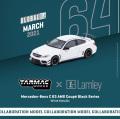 [予約]Tarmac(ターマック) 1/64 メルセデスベンツ C63 AMG Coupe Black Series ホワイトメタリック