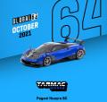 [予約]Tarmac(ターマック)1/64 Pagani Huayra BC Blu Francia / Black