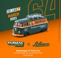 Tarmac(ターマック)1/64 Volkswagen T1 Panel Van Jagermeister Low Ride Height with Roof Rack