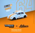 Tarmac(ターマック)1/64 Volkswagen Beetle Blue/Orange Low Ride Height