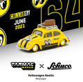 [予約]Tarmac(ターマック)1/64 Volkswagen Beetle Mooneyes With roof rack and suitcases