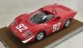 [予約]Tecnomodel(テクノモデル) 1/18 アバルト 2000 S FIAヨーロッパヒルクライム選手権 1969 優勝車 #92 A.Merzario