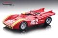 [予約]Tecnomodel(テクノモデル) 1/18 アバルト 2000 SP セストリエーレ GP 1970 優勝車 #462 A.Merzario