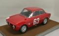 [予約]Tecnomodel(テクノモデル) 1/18 アルファ ロメオ ジュリア 1600 スプリント GTA モンツァ 1966 #63 De Adamich