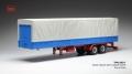 [予約]ixo (イクソ) 1/43 トラック トレーラー キャンバスカバー グレー/ブルー