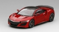 [予約]TrueScale(トゥルースケール) 1/43 Honda NSX バレンシアレッドパール モデューロ ホイール