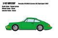 [予約]VISION (ヴィジョン) 1/43 ポルシェ 911(964) カレラ RS クラブスポーツ 1992 シグナルグリーン