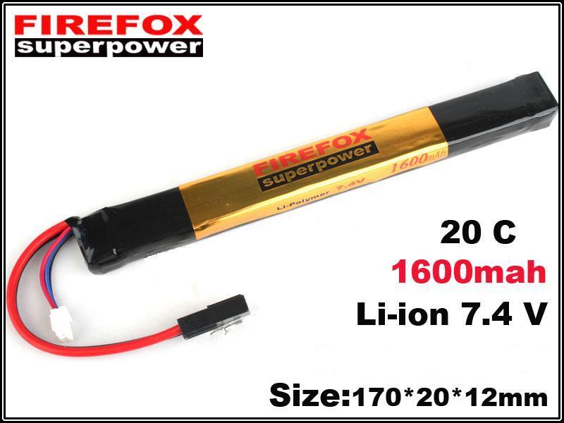 FIREFOX  【LiPo Battery】 20C 7.4V 1600mAh <2>
