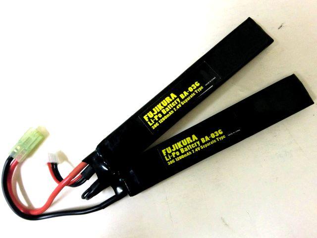 FUJIKURA  【LiPo Battery】 30C 7.4V 1200mAh <セパレートタイプ>