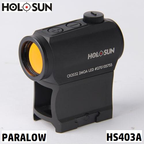 【実物】 HOLOSUN(ホロサン)  【ダットサイト・ドットサイト】 PARALOW HS403A Red Dot Sight