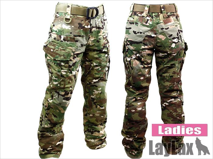 LayLax(ライラクス)  【装備・サバゲー用品・BDU・迷彩服・女性・子供】 レディース BDU パンツ <MC(マルチカム)>