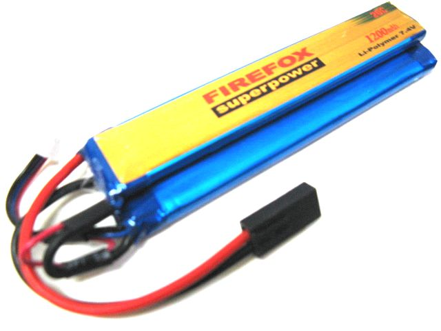 【LiPo Battery】 FIREFOX  20C 7.4V 1200mAh <1>