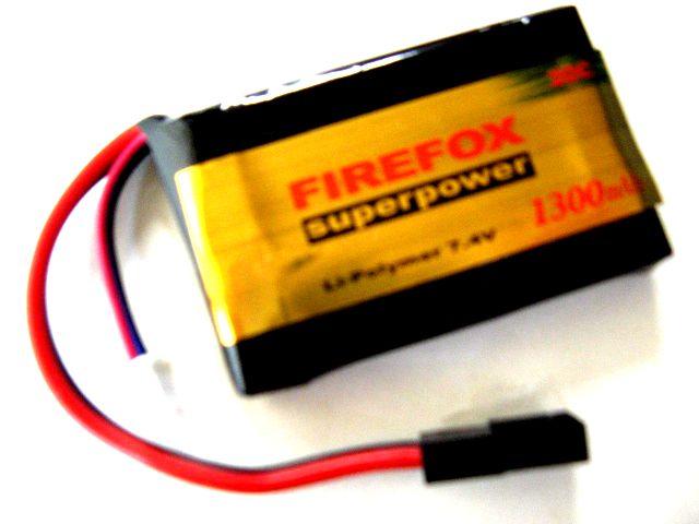【LiPo Battery】 FIREFOX  20C 7.4V 1300mAh <1>