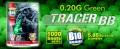 【18才以上用】 G&G ARMAMENT(アーマメント)  【BIO(バイオ)BB弾】【畜光(ちっこう)・BB弾】 TRACER BB(トレーサー BB) 0.20g 1000発 <発光色:GREEN(グリーン)>