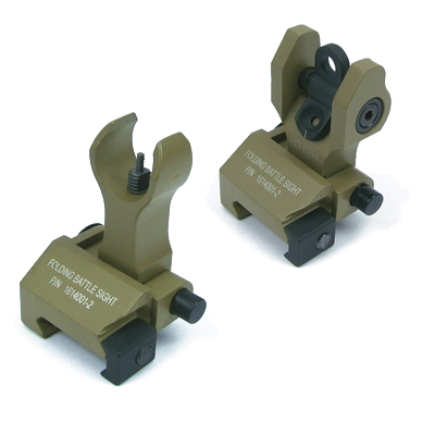 King Arms Folding Battle Sight Set - DE