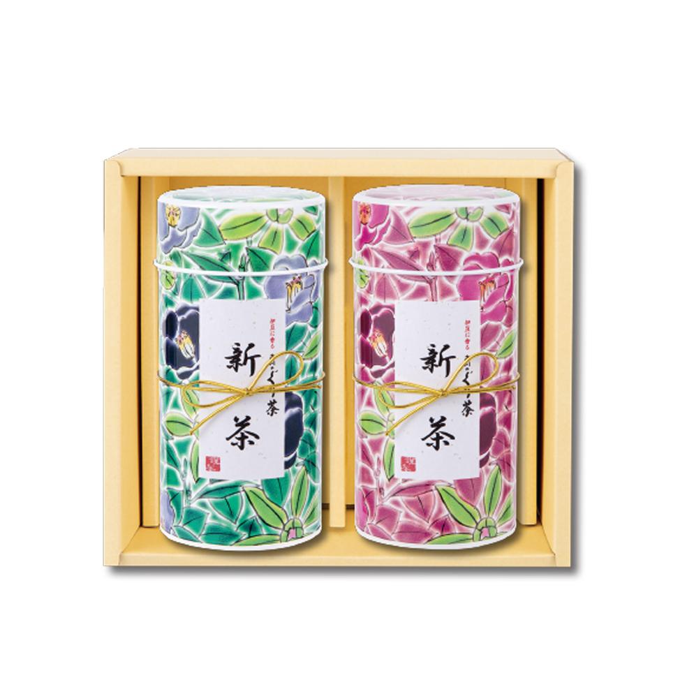 九谷つばき(クタニツバキ)(中) 新茶 特撰ぐり茶 100号 / 彩 各120g入(2本箱入)(5月上旬予定)