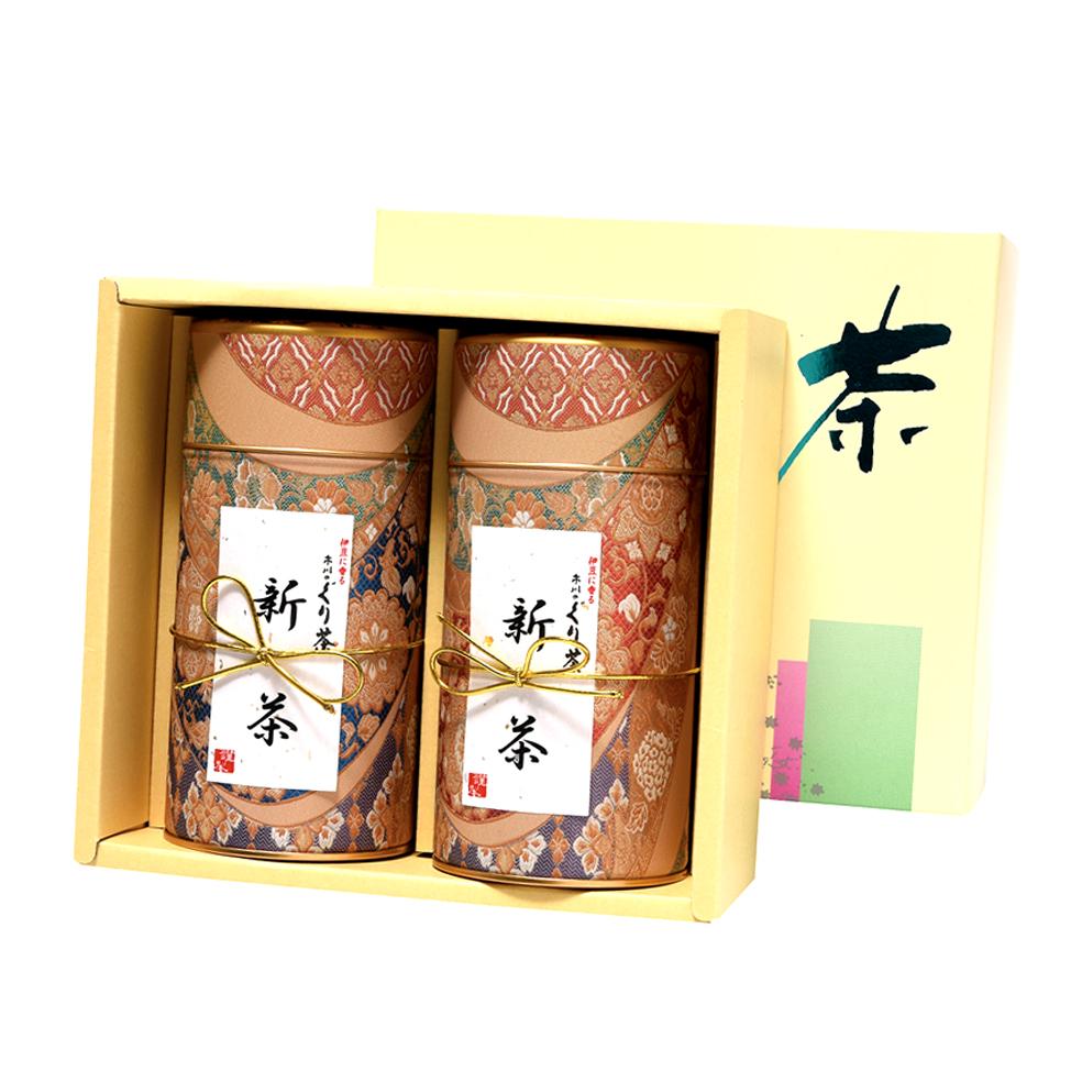 富士山(フジサン)・新茶缶(シンチャ) 新茶 特撰ぐり茶 100号 / 彩 各120g入(2本箱入)(5月上旬予定)