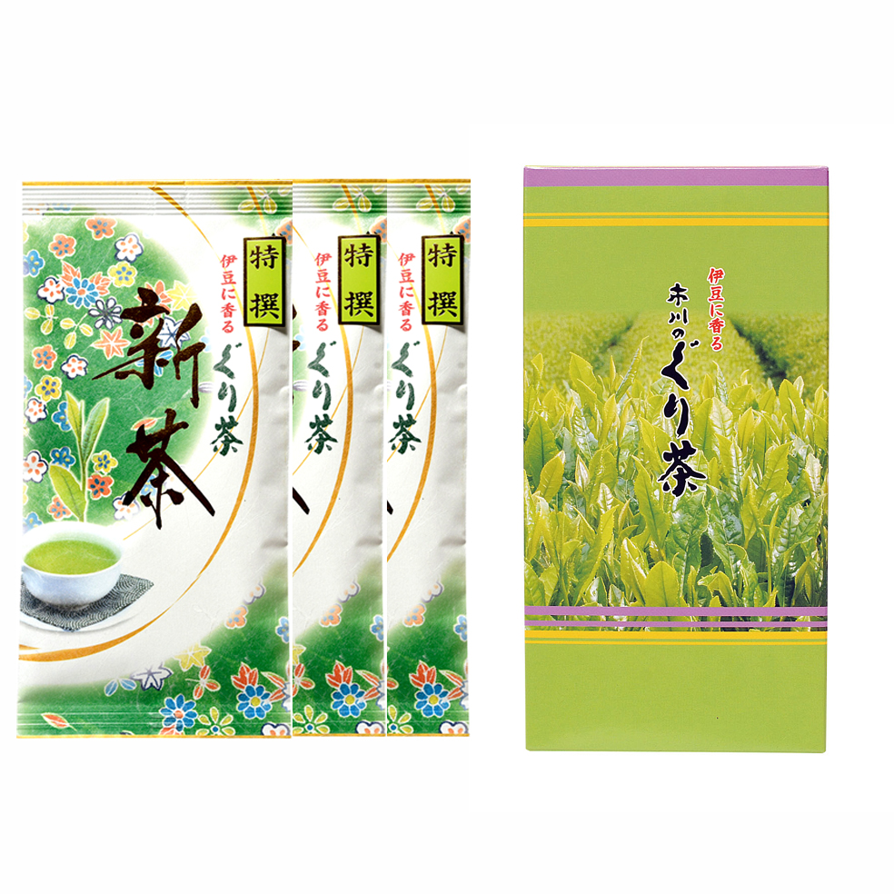 新茶 特撰ぐり茶 150号 箱セット(2本入.3本入.5本入)(4月下旬予定)