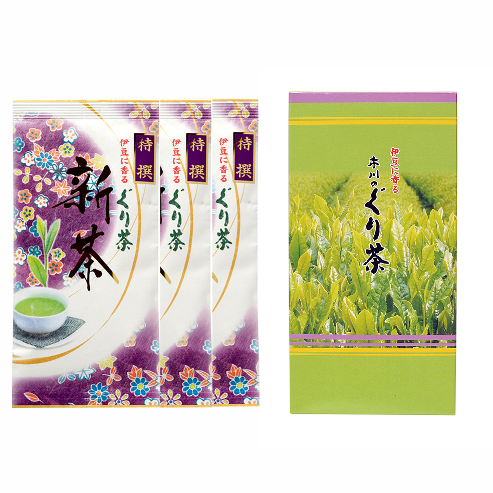 新茶 特撰ぐり茶 120号 箱セット(2本入.3本入.5本入)(5月上旬予定)