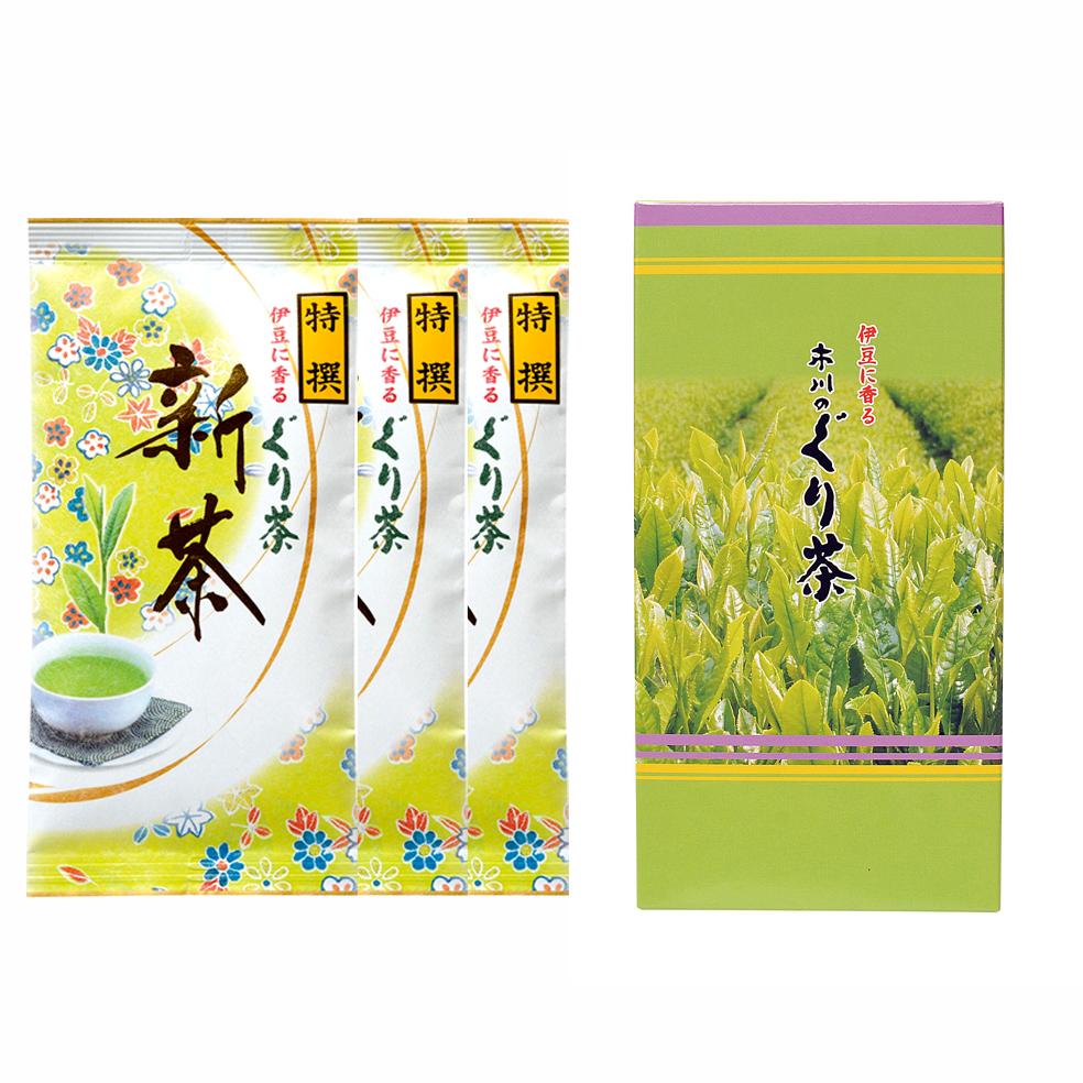 新茶 特撰ぐり茶 100号 箱セット(2本入.3本入.5本入)(5月上旬予定)
