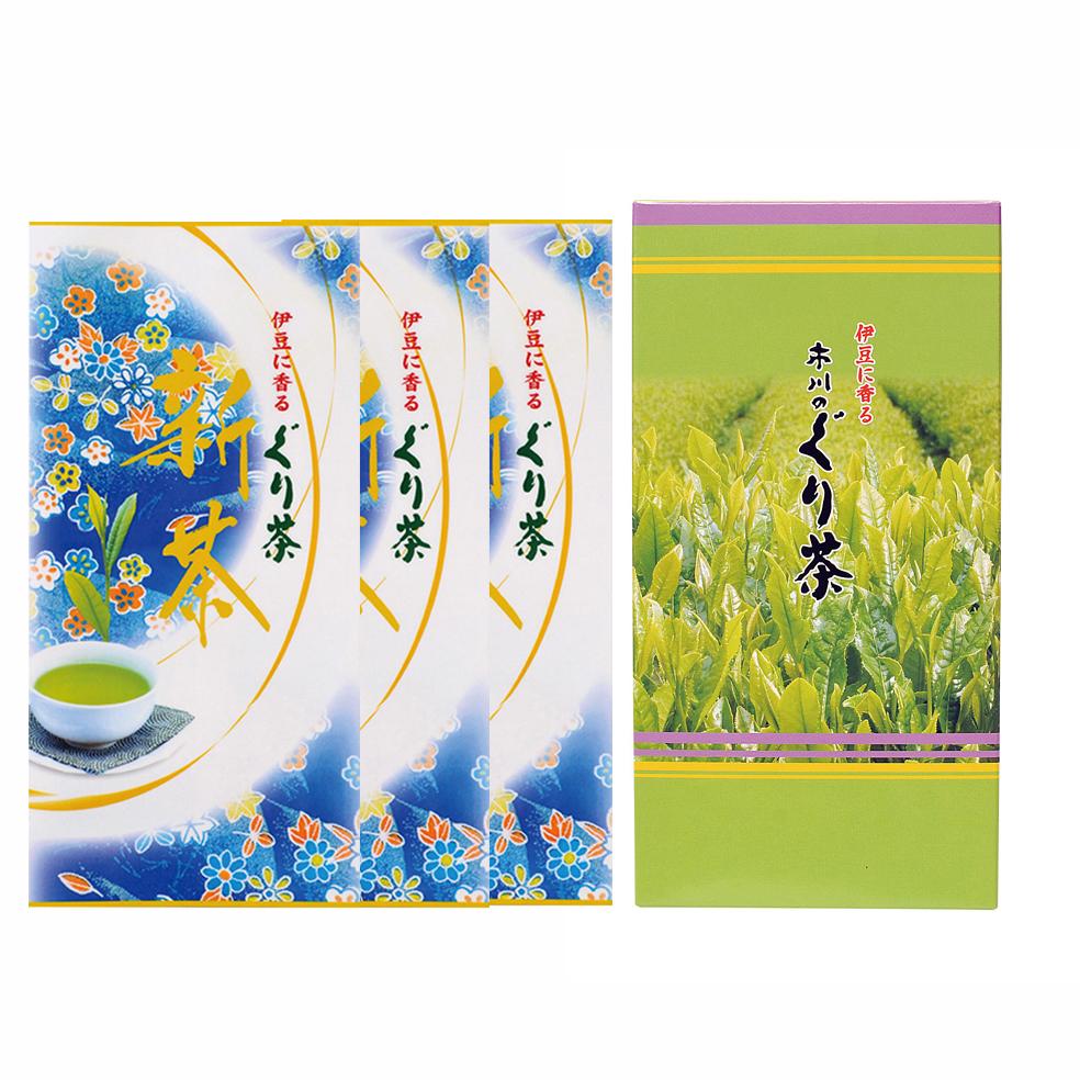 新茶 特選ぐり茶 80号 箱セット(2本入.3本入.5本入)(5月中旬予定)