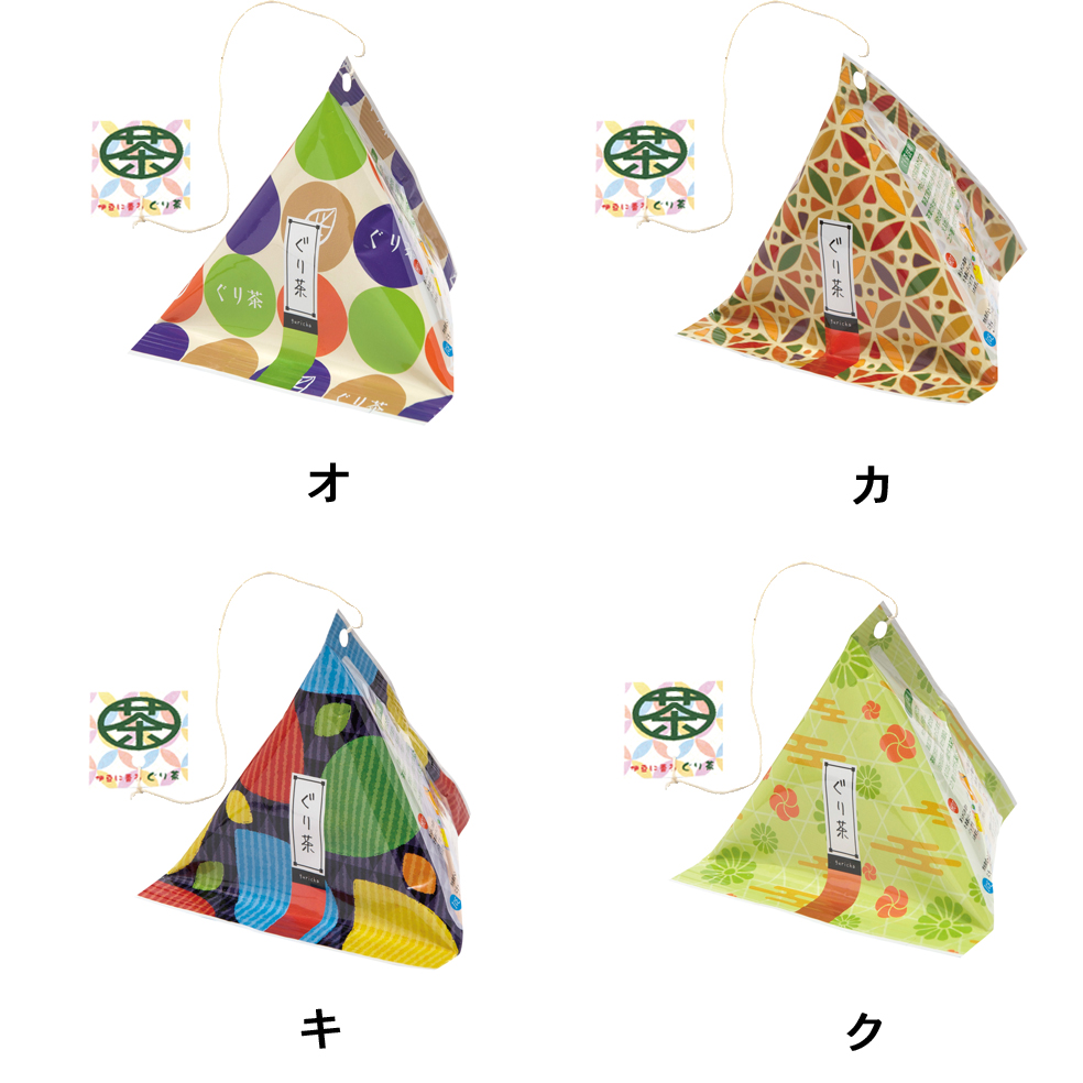三角テトラティーバッグ2 [ぐり茶糸付ティーバッグ16g(2g×8P)]
