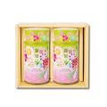 新茶缶(シンチャカン)(花)(中) 新茶 特撰ぐり茶 100号 / 彩 各120g入(2本箱入)(5月上旬予定)