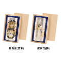 彫刻缶(花車.鶴)(チョウコクカン ハナグルマ.ツル) 特撰ぐり茶 200号 120g×1本(桐箱入)