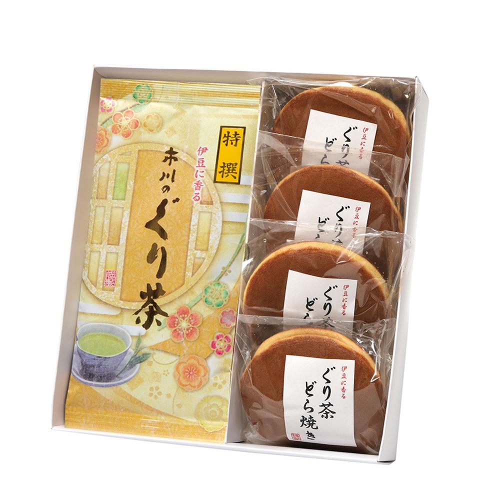 特撰ぐり茶(100g×2本)+ぐり茶どら焼き 4個