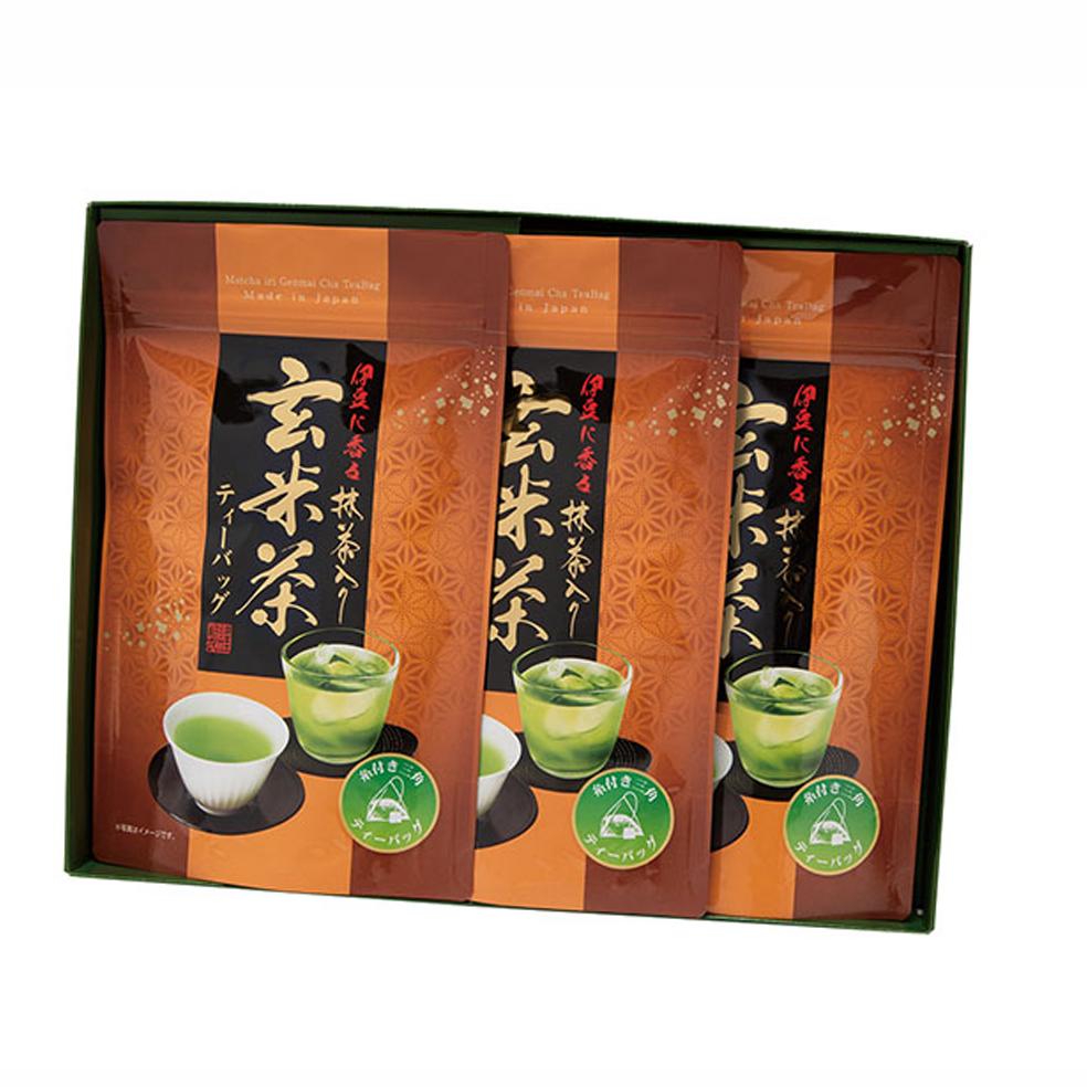 抹茶入り玄米茶糸付ティーバッグ(20入)×3袋