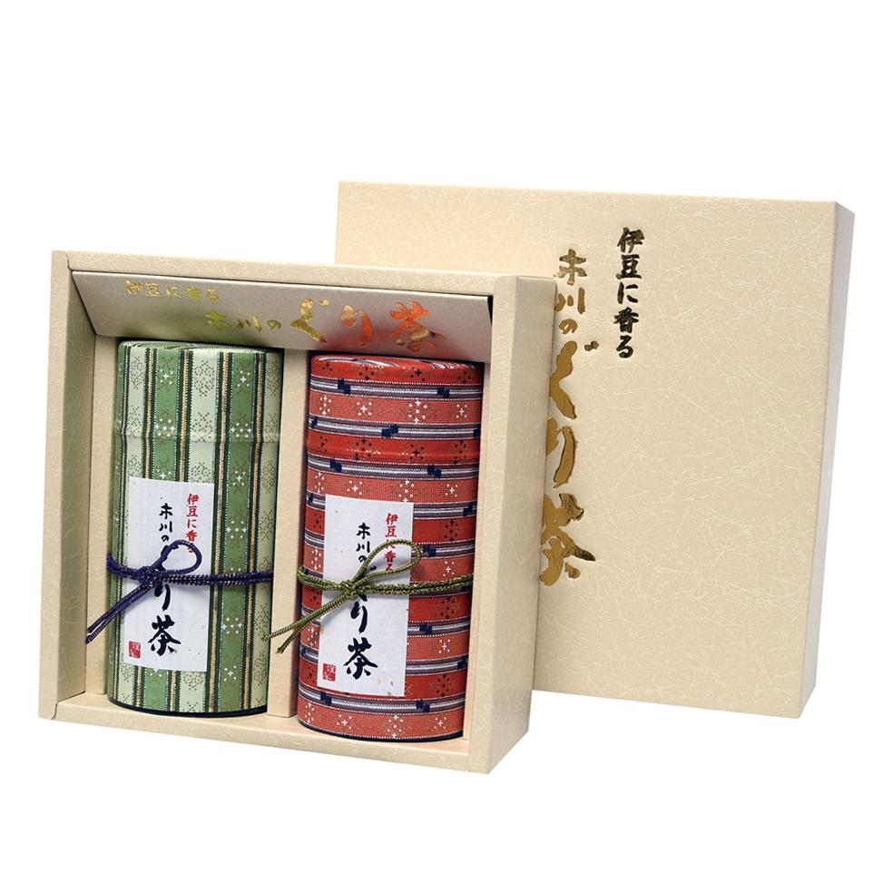 西陣(ニシジン) 特撰ぐり茶 150号 / 冬の彩り 各150g 2本セット箱入