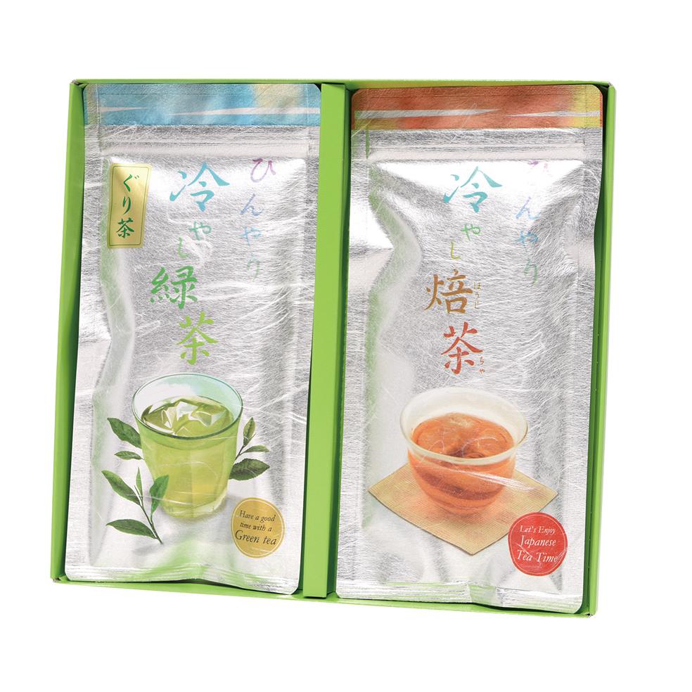 ひんやり 冷やしお茶セット 2本平箱入