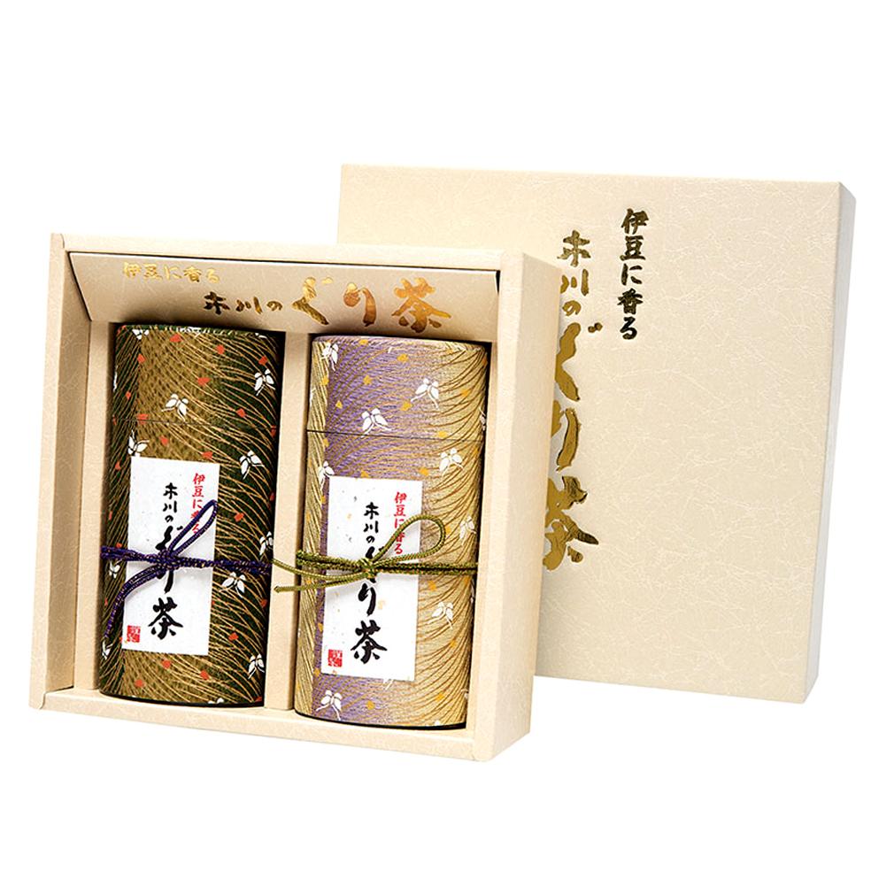 クレープ蝶(チョウ) 特撰ぐり茶 150号 / 冬の彩り 各150g 2本セット箱入